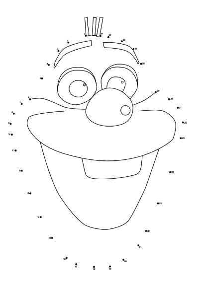 Coloriage point à relier Olaf