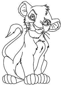 Coloriage Simba Roi Lion