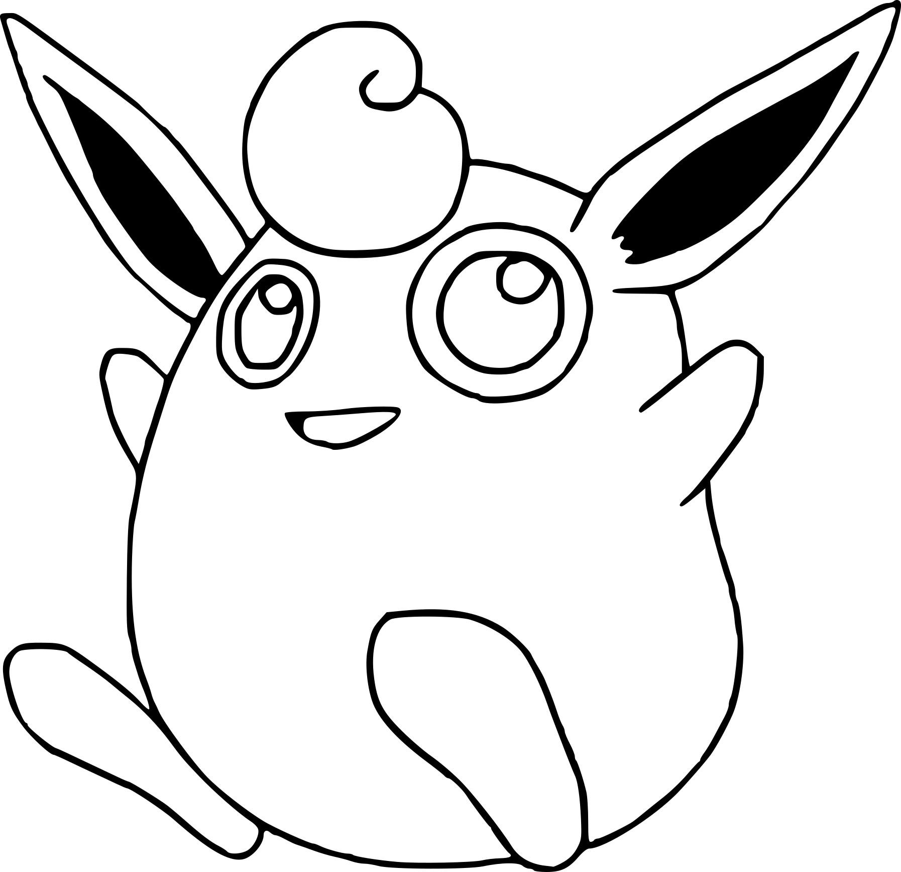Grodoudou Coloriage Grodoudou Pokemon à Imprimer