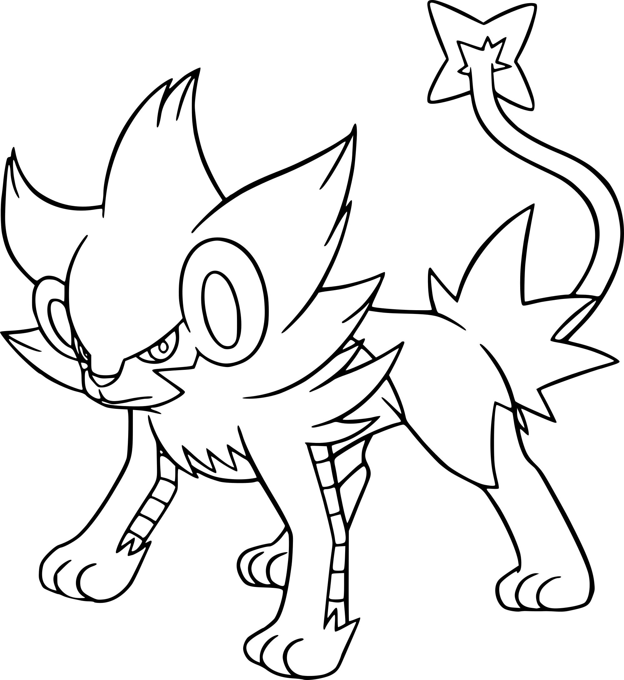 Luxray : Coloriage Luxray Pokemon à imprimer