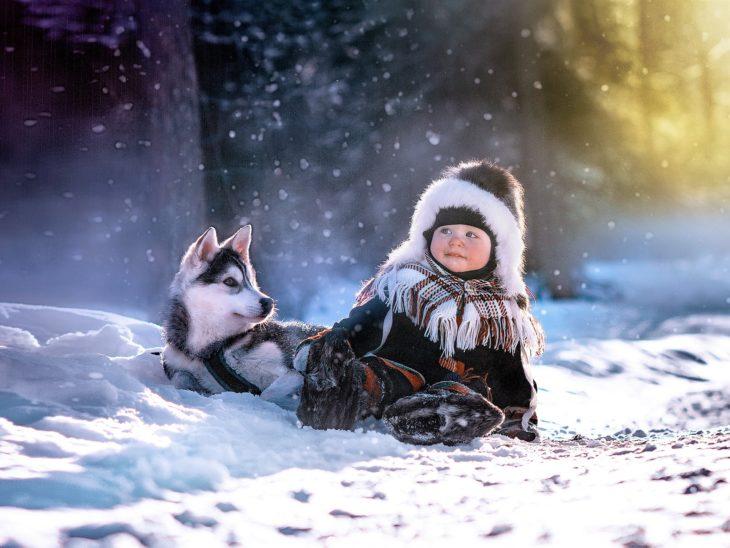 Enfant et la neige