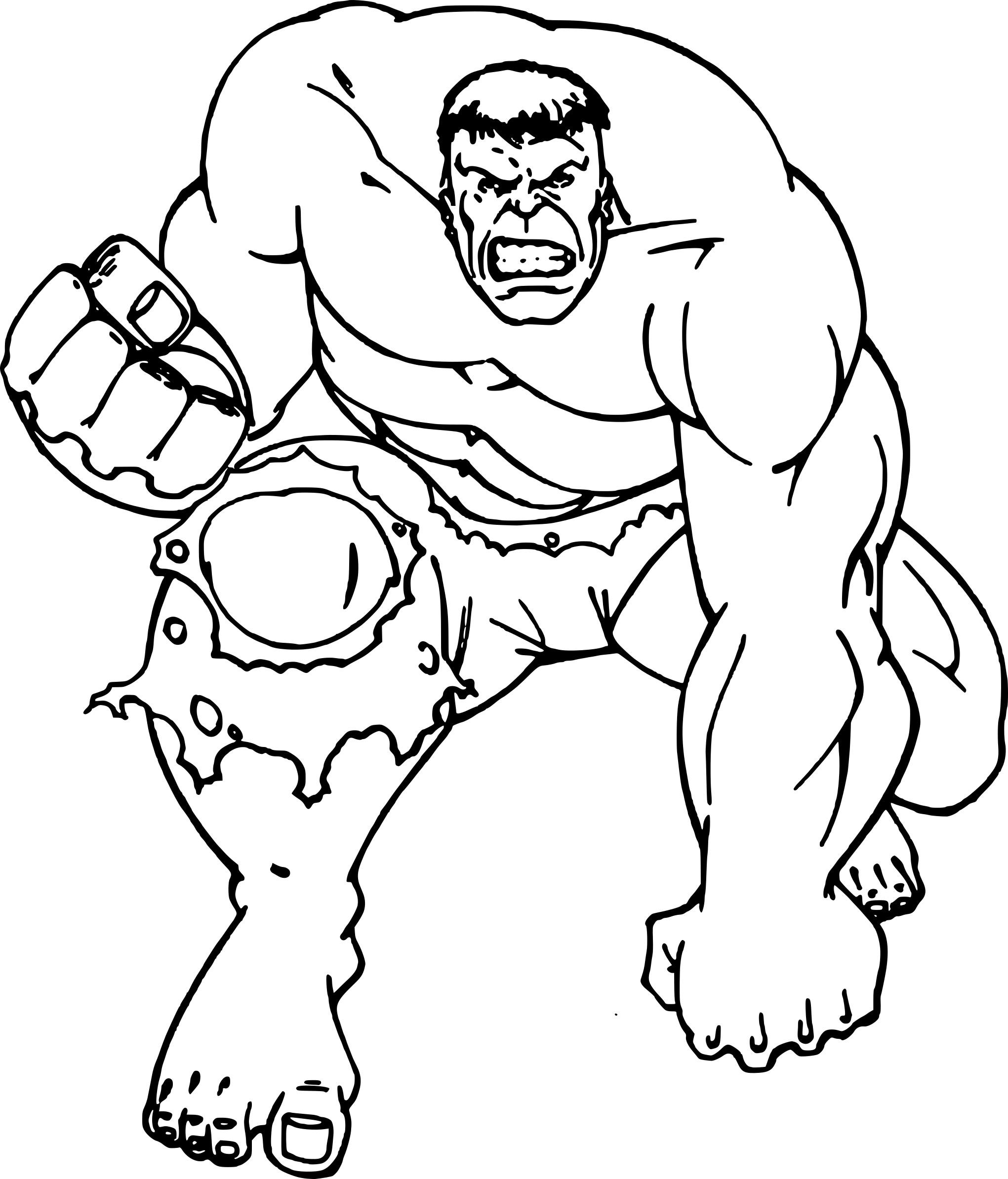 Coloriage Hulk Le Super Héros à Imprimer Et Colorier