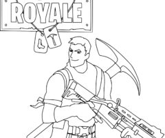 Coloriage Fortnite