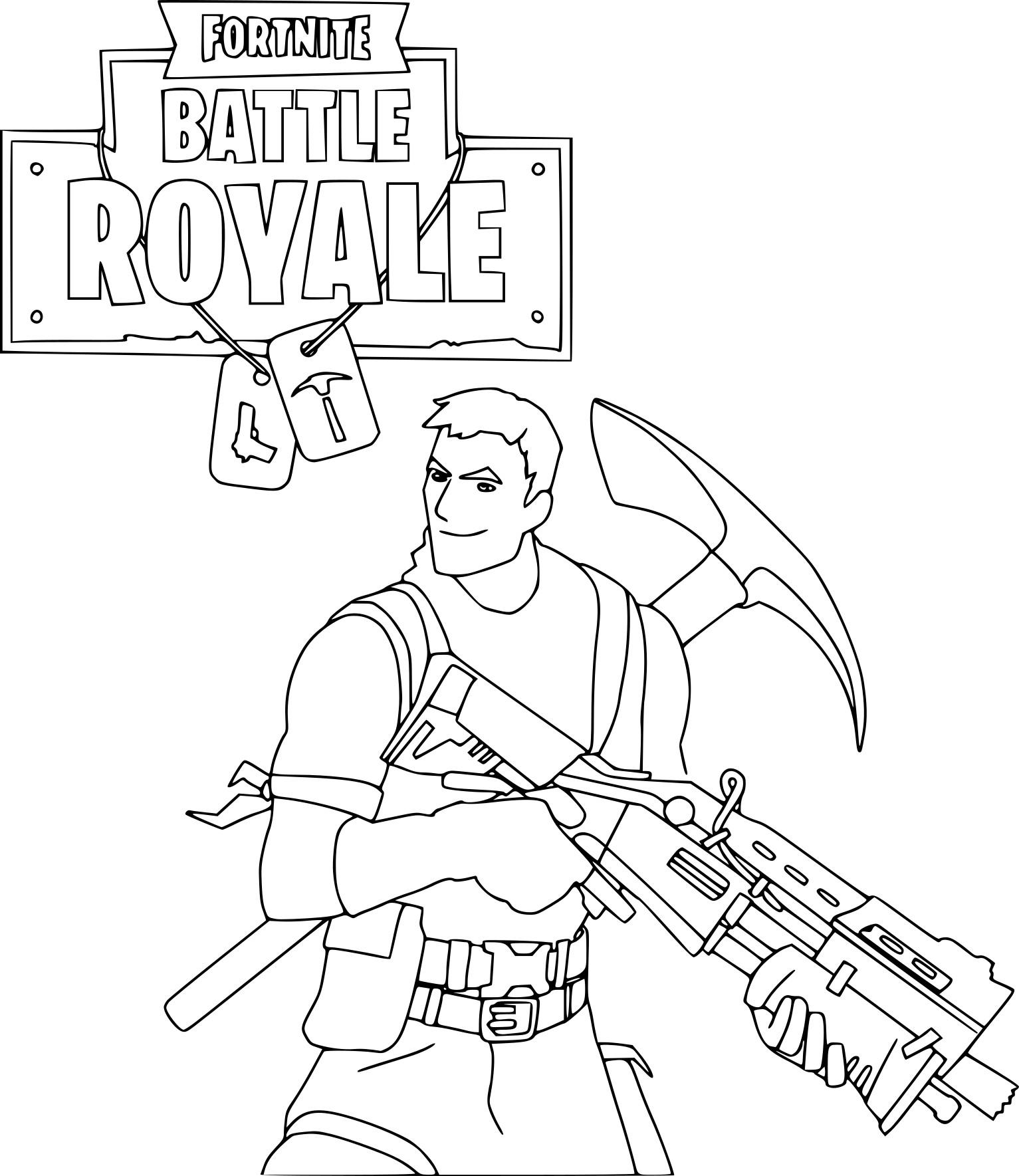 Coloriage du jeu en ligne Fortnite à imprimer et colorier